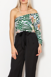 lucca couture Palm Print Top - Front cropped