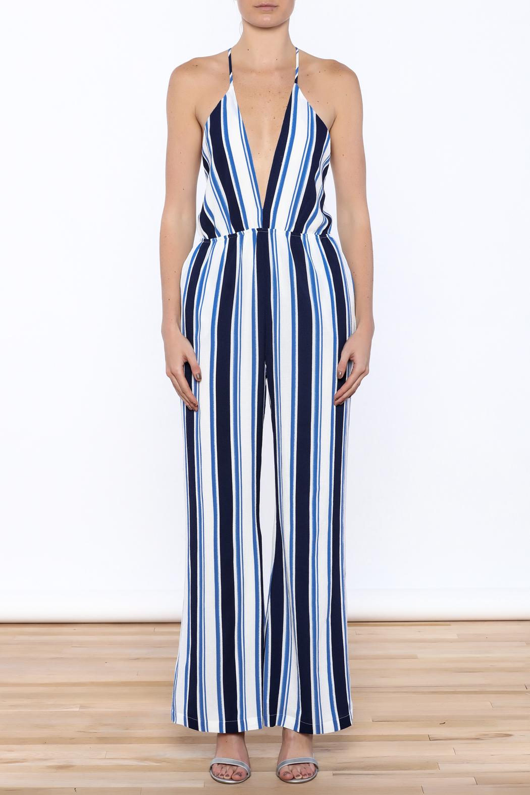 lucca couture Plunge Neck Jumpsuit - Front Cropped Image
