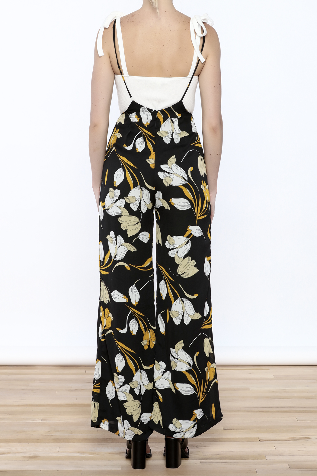 lucca couture Tulip Overall Jumpsuit - Back Cropped Image