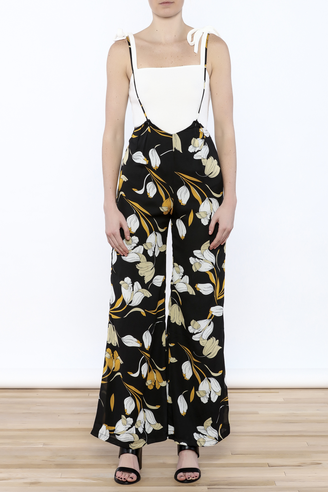 lucca couture Tulip Overall Jumpsuit - Front Cropped Image
