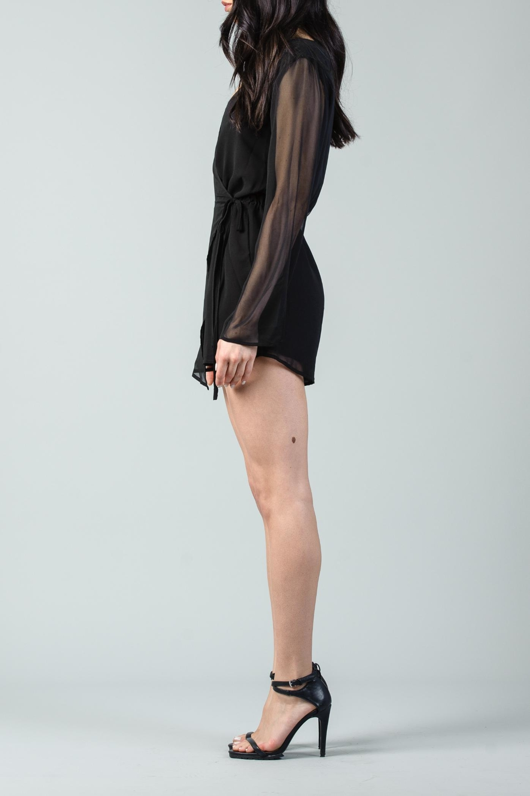Lucca Front Wrap Romper - Side Cropped Image