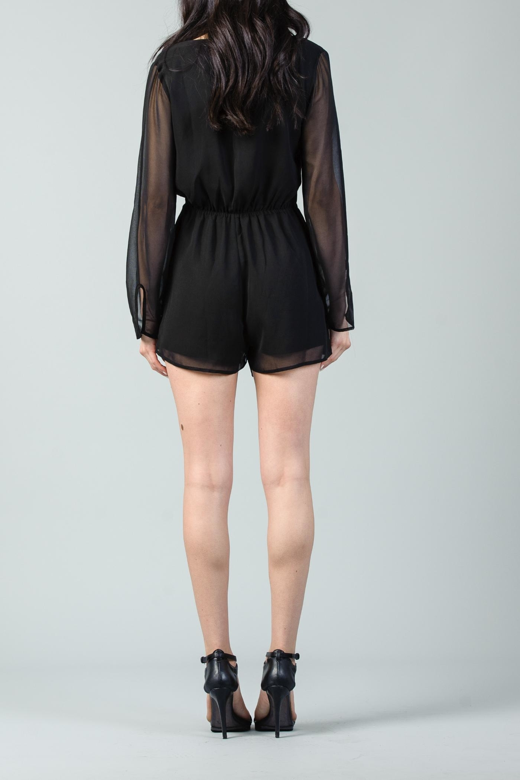 Lucca Front Wrap Romper - Front Cropped Image