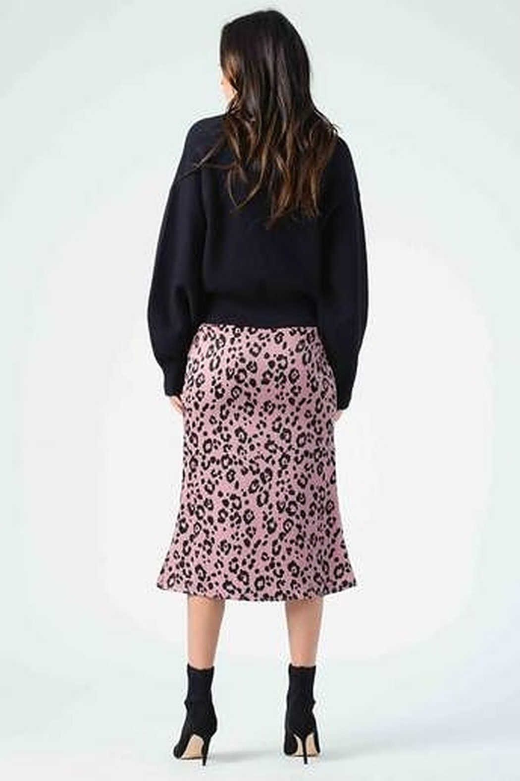 Lucca Frost Bias Cut Midi Skirt - Front Full Image