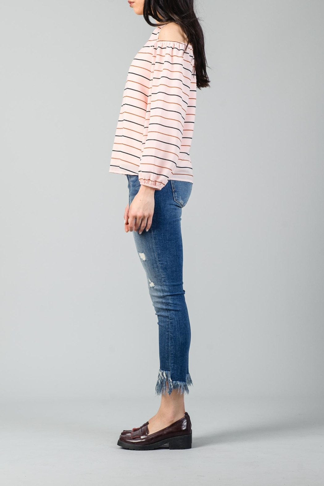 Lucca Michelle Cold Shoulder Blouse - Side Cropped Image