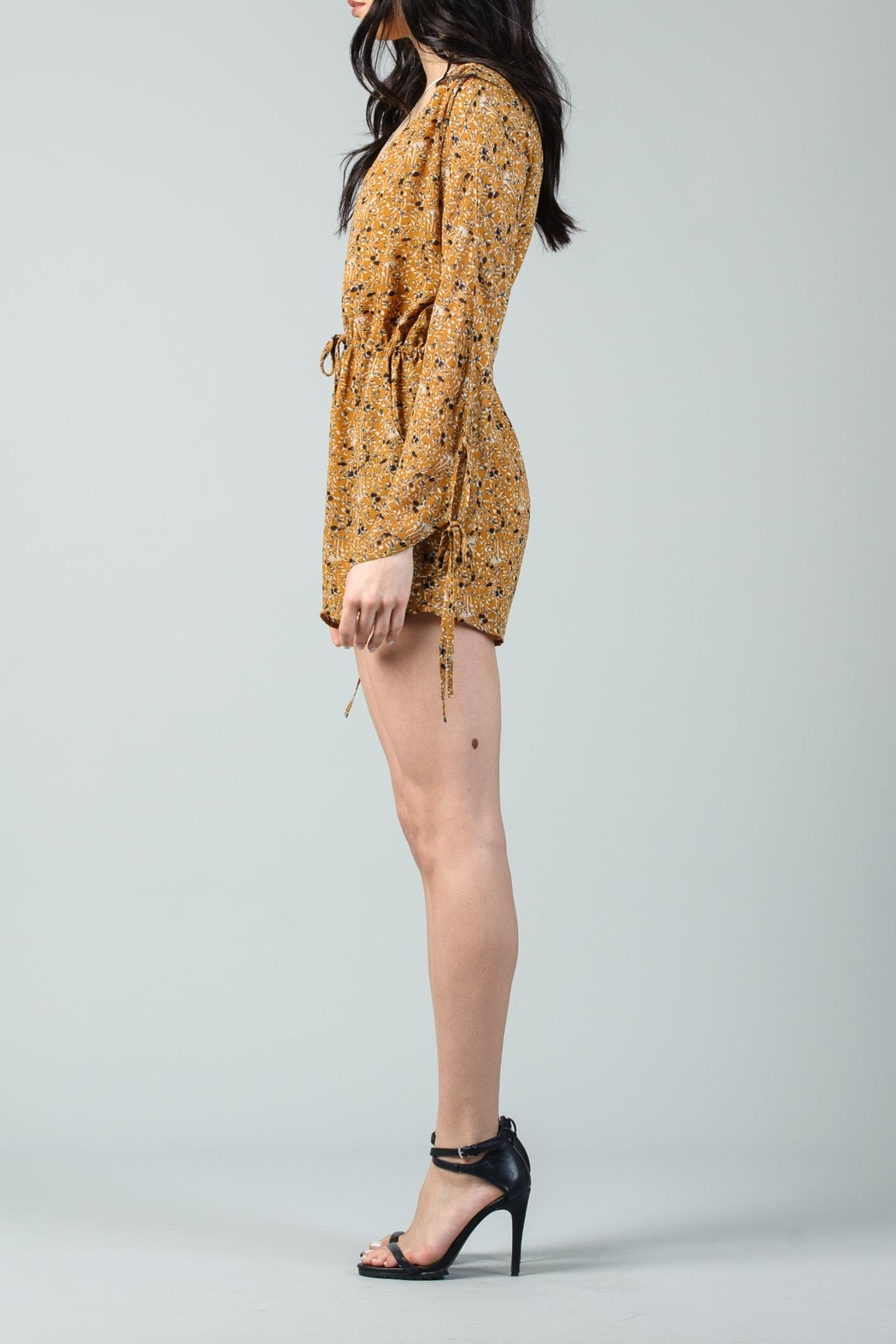 Lucca Rosanna Drawstring Romper - Side Cropped Image