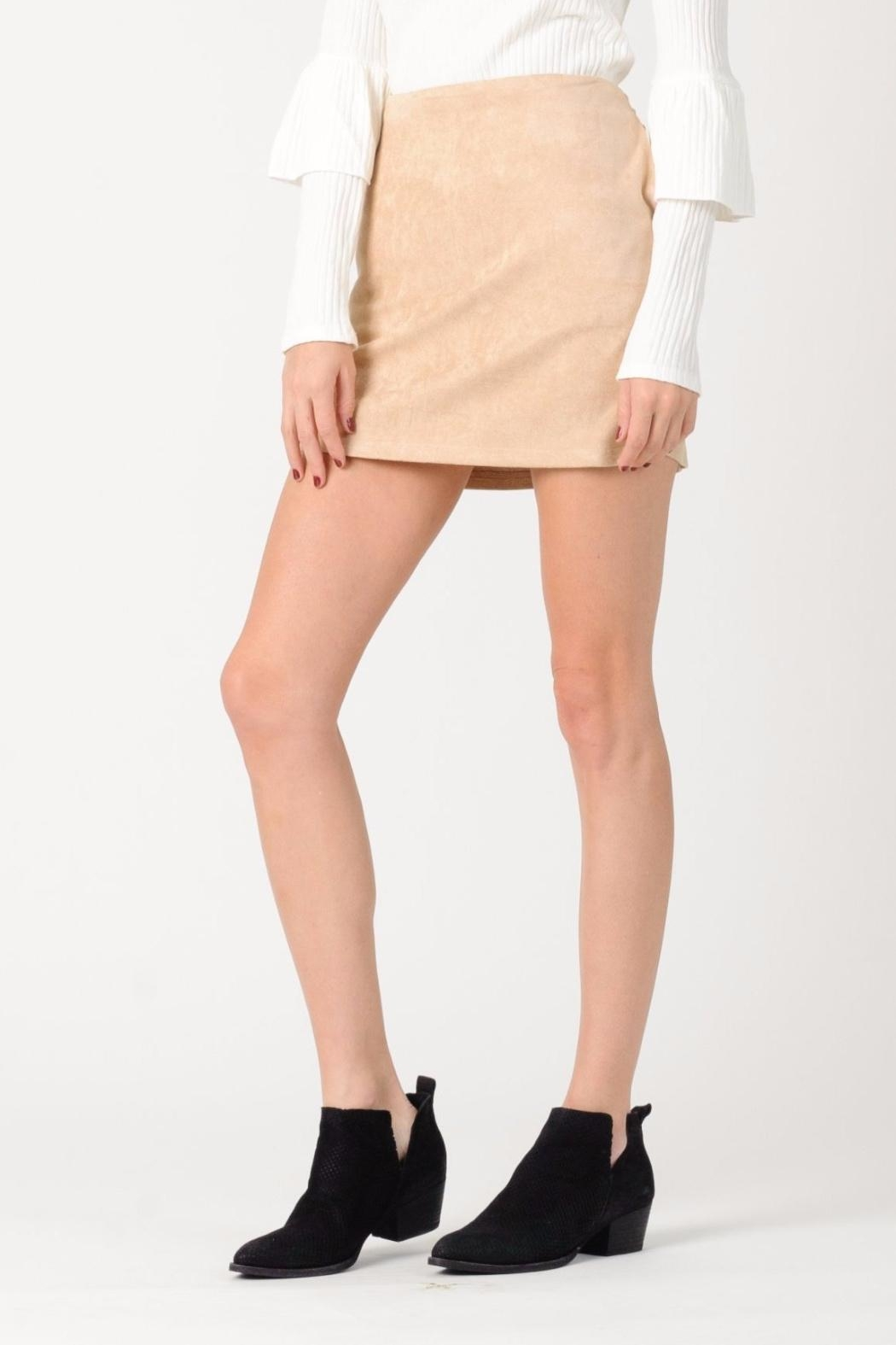 lucca couture Paris Vegan Suede - Side Cropped Image