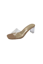 Bamboo Lucent-01 Heeled Sandal - Front cropped
