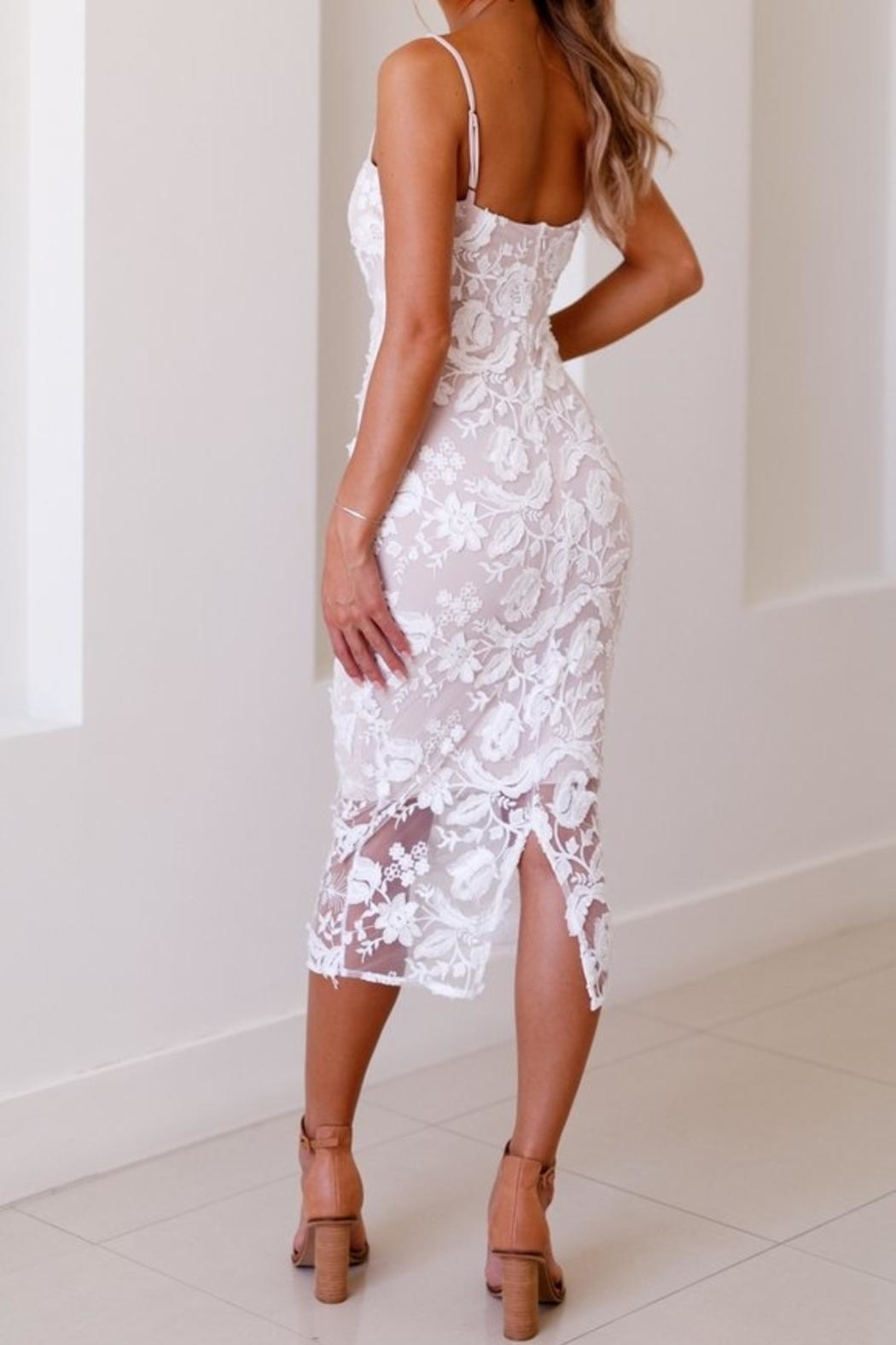 Nookie Lucia Midi Dress - Back Cropped Image