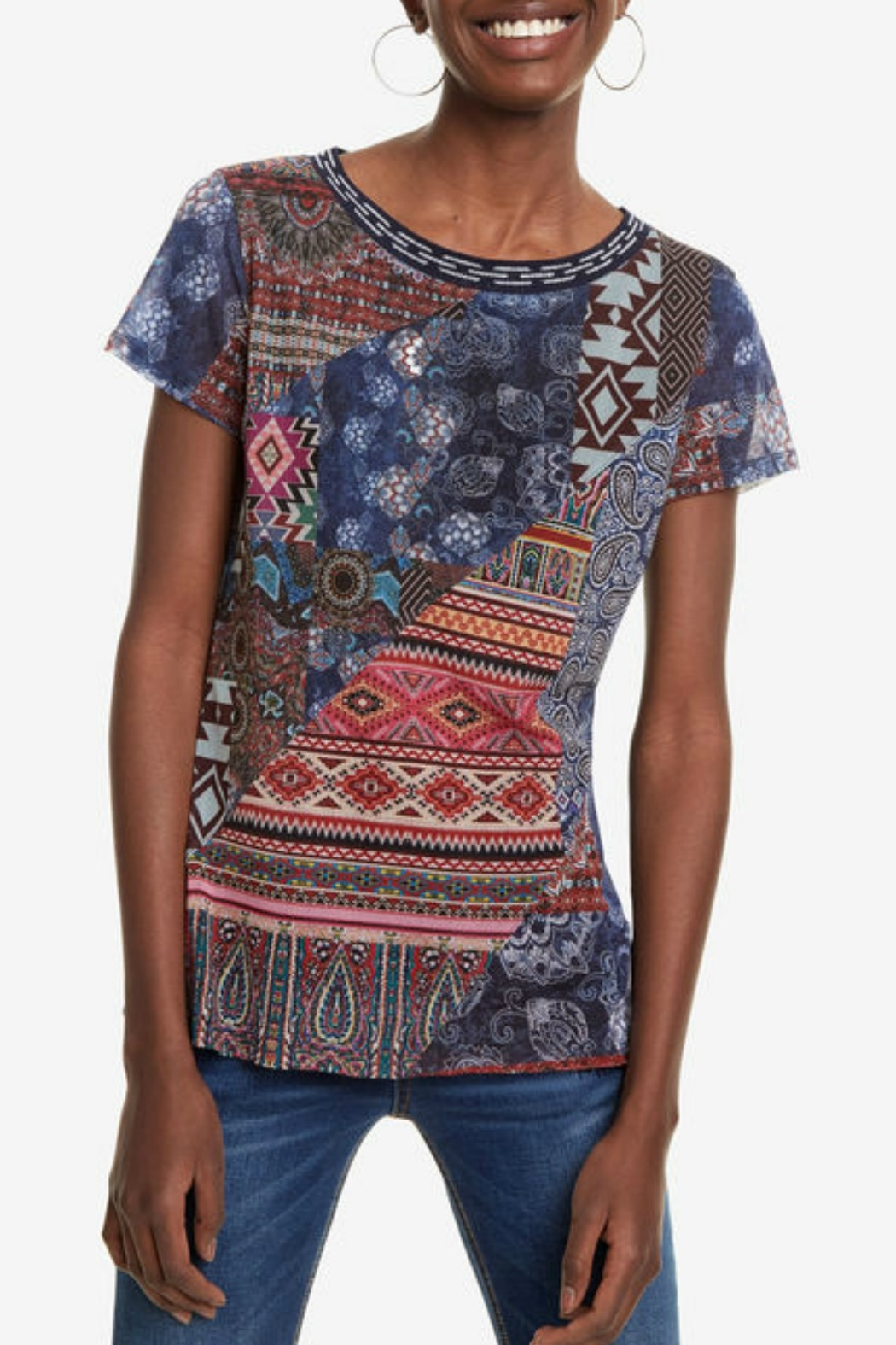 DESIGUAL Lucia T-Shirt - Front Cropped Image