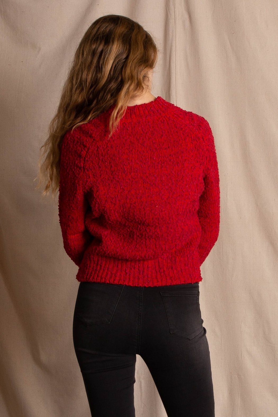 MinkPink Lucie Raglan Sweater - Side Cropped Image