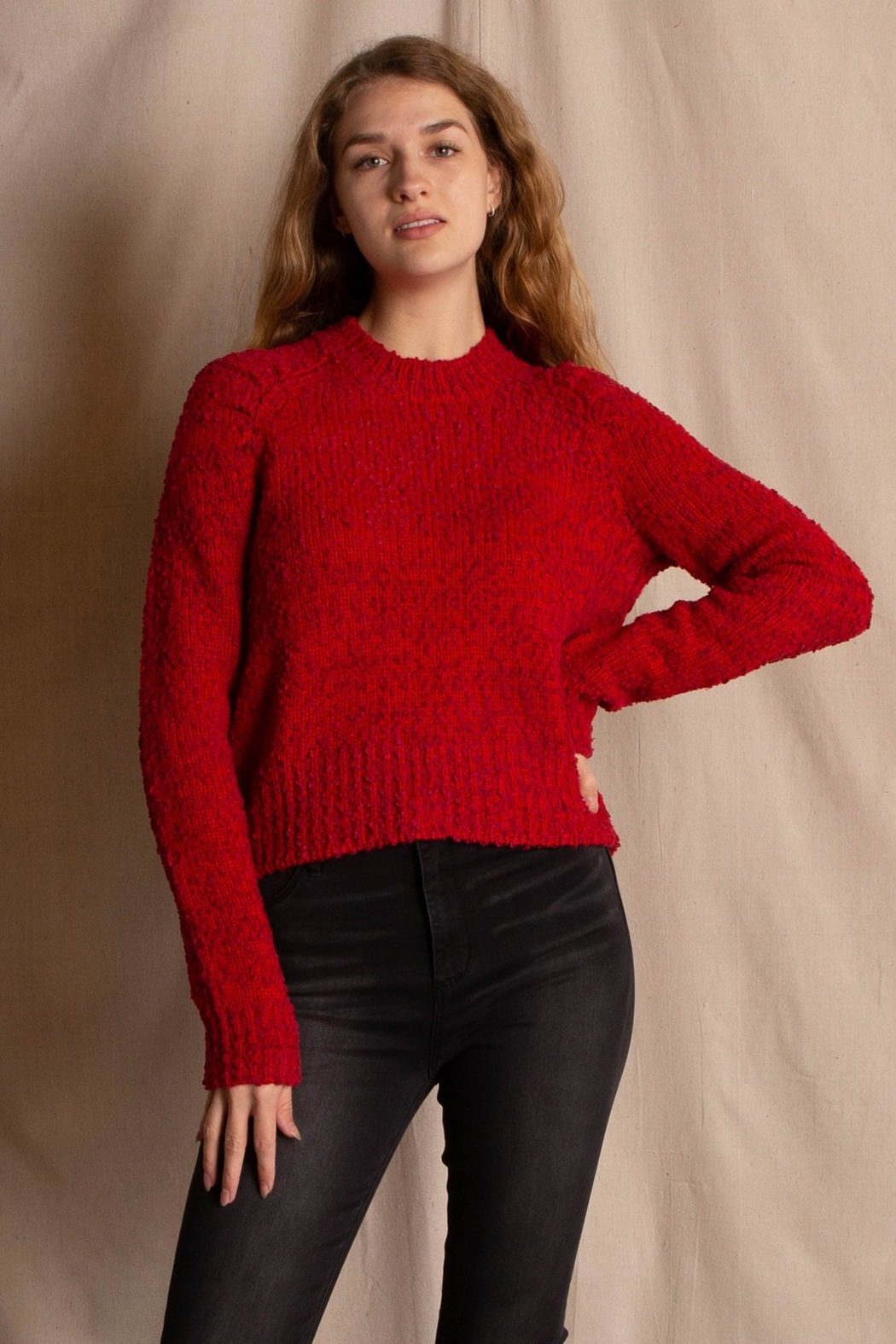 MinkPink Lucie Raglan Sweater - Front Cropped Image