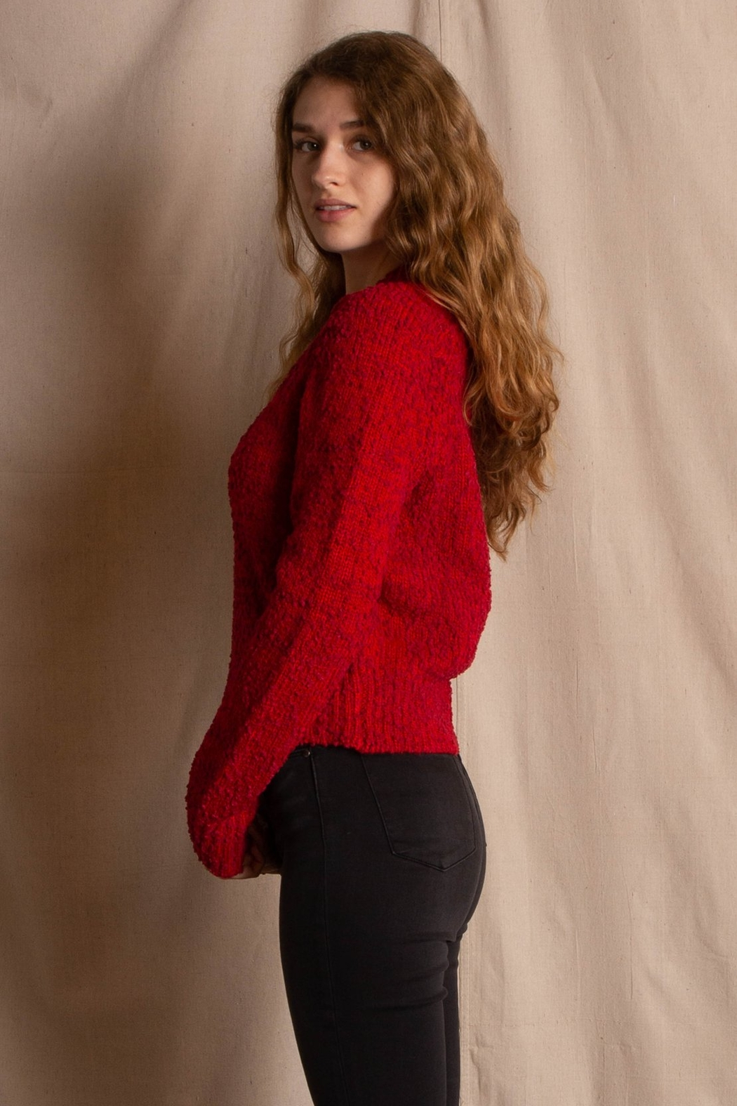 MinkPink Lucie Raglan Sweater - Front Full Image