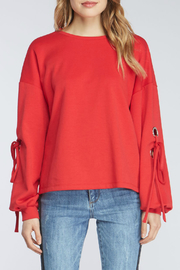 Velvet Heart Lucille Tie Sleeve Red Pullover - Product Mini Image