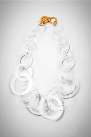 Embellish Lucite Large-Links Necklace - Product Mini Image