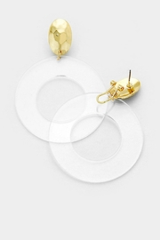 Embellish Lucite/loop Hammered Earrings - Front cropped