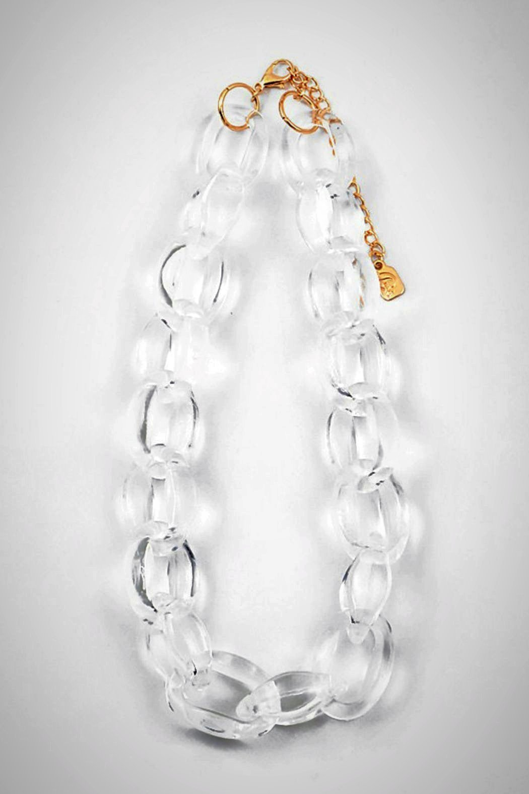 Embellish Lucite Small-Links Necklace - Main Image