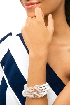 Zenzii Lucite White Bracelet - Alternate List Image