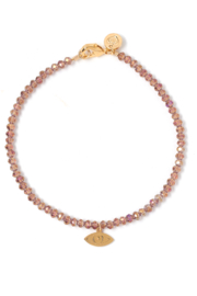 Tess + Tricia Lucky Beaded Bracelet Evil Eye - Front cropped