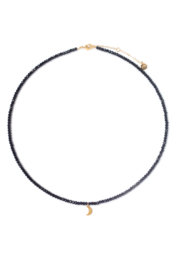 Tess + Tricia Lucky Beaded Necklace Moon - Front cropped