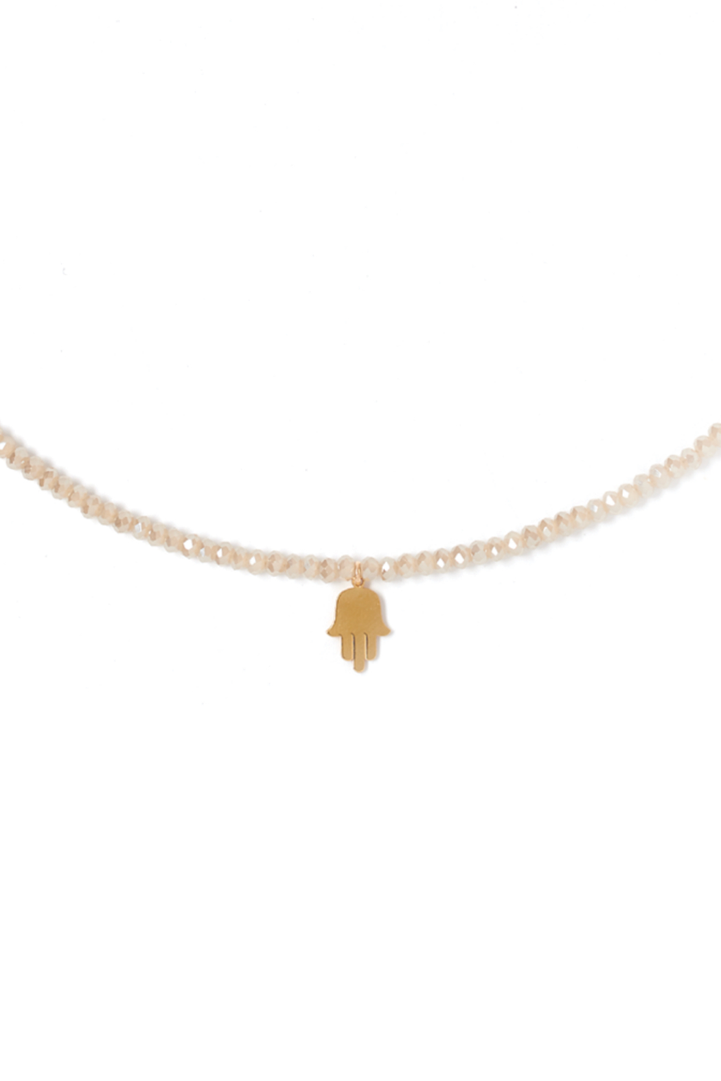 Tess + Tricia Lucky Beaded Necklace Hamza - Front Full Image