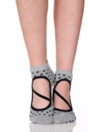 lucky honey Lucky Honey Star Barre Grip Socks - Product Mini Image