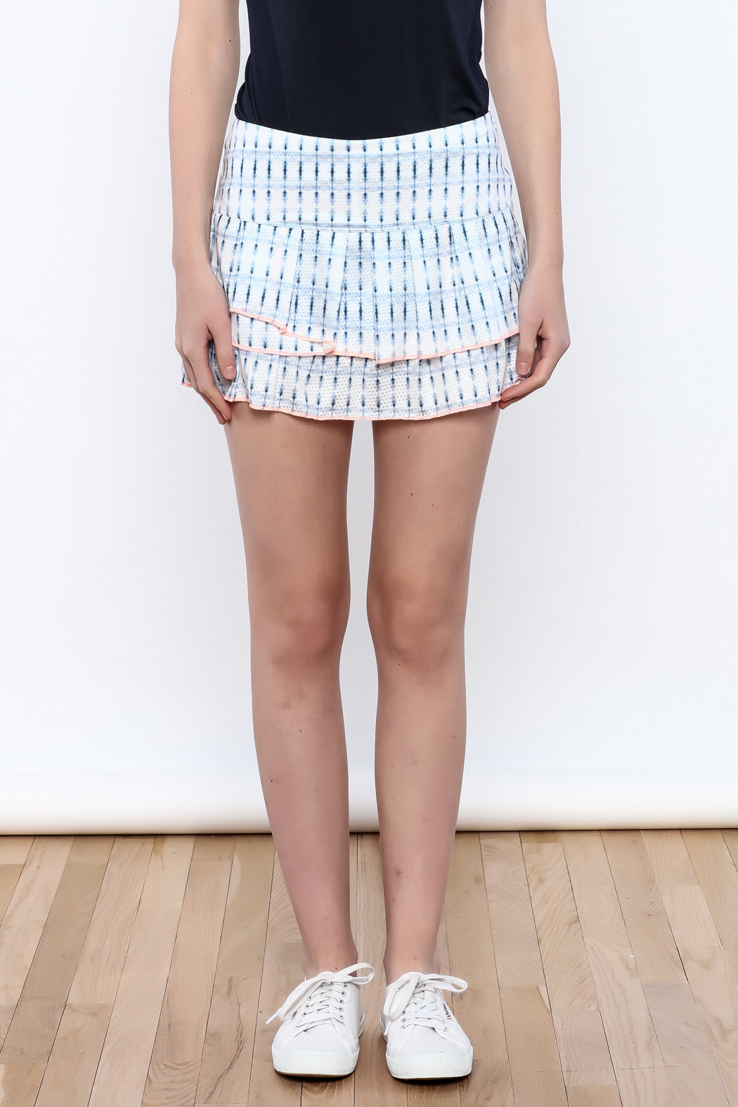 Lucky in Love Layered Tennis Skirt - Side Cropped Image