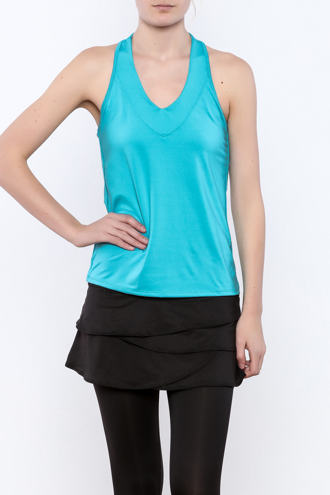 Lucky in Love V-Neck Workout Tank - Main Image