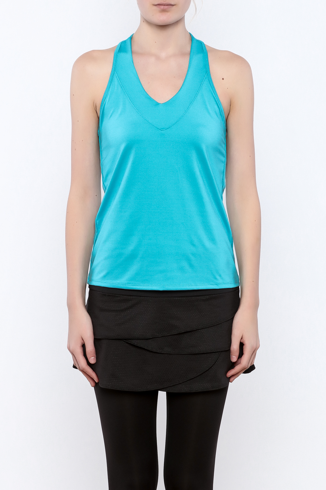 Lucky in Love V-Neck Workout Tank - Side Cropped Image
