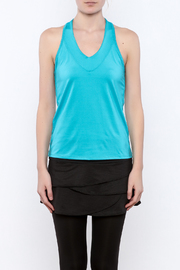 Lucky in Love V-Neck Workout Tank - Side cropped