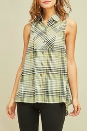 Entro Lucky Plaid Top - Product Mini Image