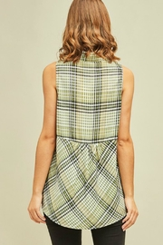 Entro Lucky Plaid Top - Front full body