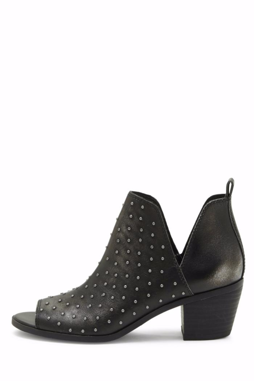Lucky Brand Barlenna Peep Toe Bootie - Front Cropped Image