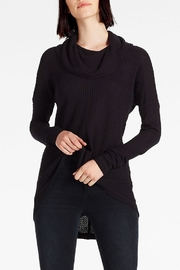 Lucky Brand Cowlneck Thermal Sweater - Front cropped