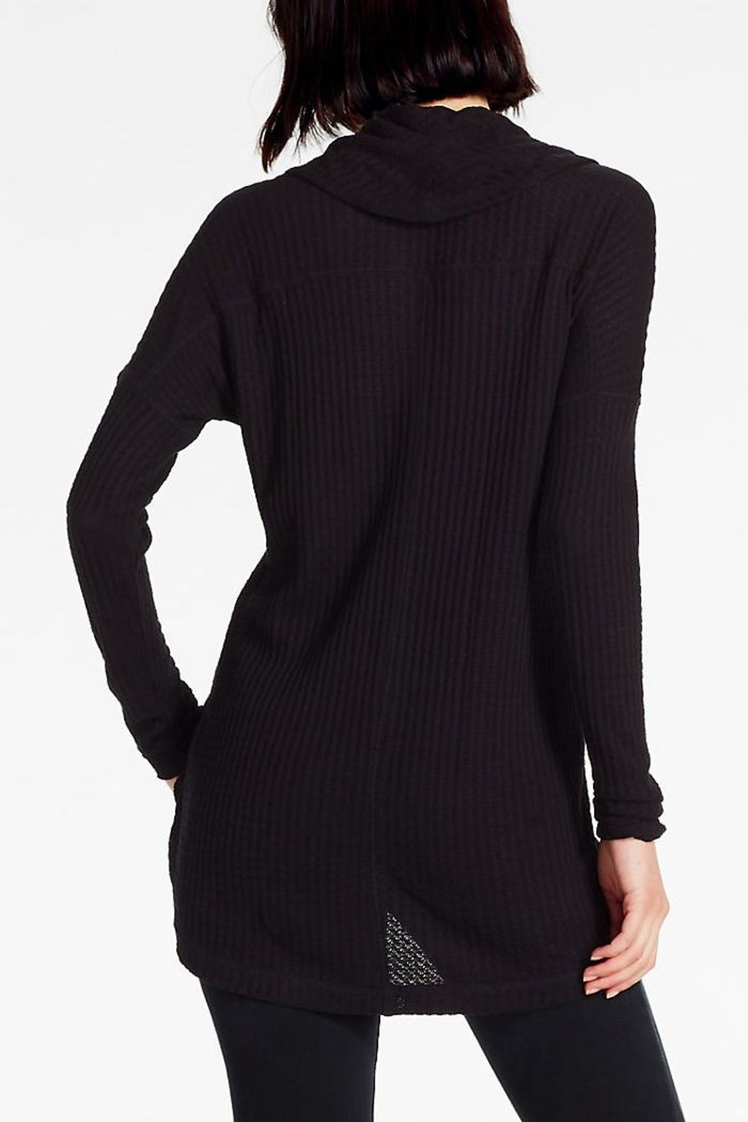 Lucky Brand Cowlneck Thermal Sweater - Front Full Image