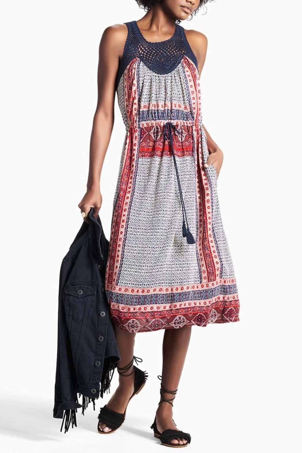 Lucky Brand Crochet Festival Dress - Main Image