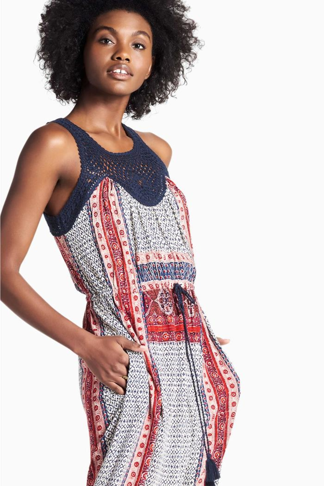 Lucky Brand Crochet Festival Dress - Side Cropped Image