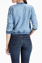 Lucky Brand Denim Bomber Jacket - Front full body