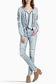Lucky Brand Embroidered Woven Top - Product Mini Image
