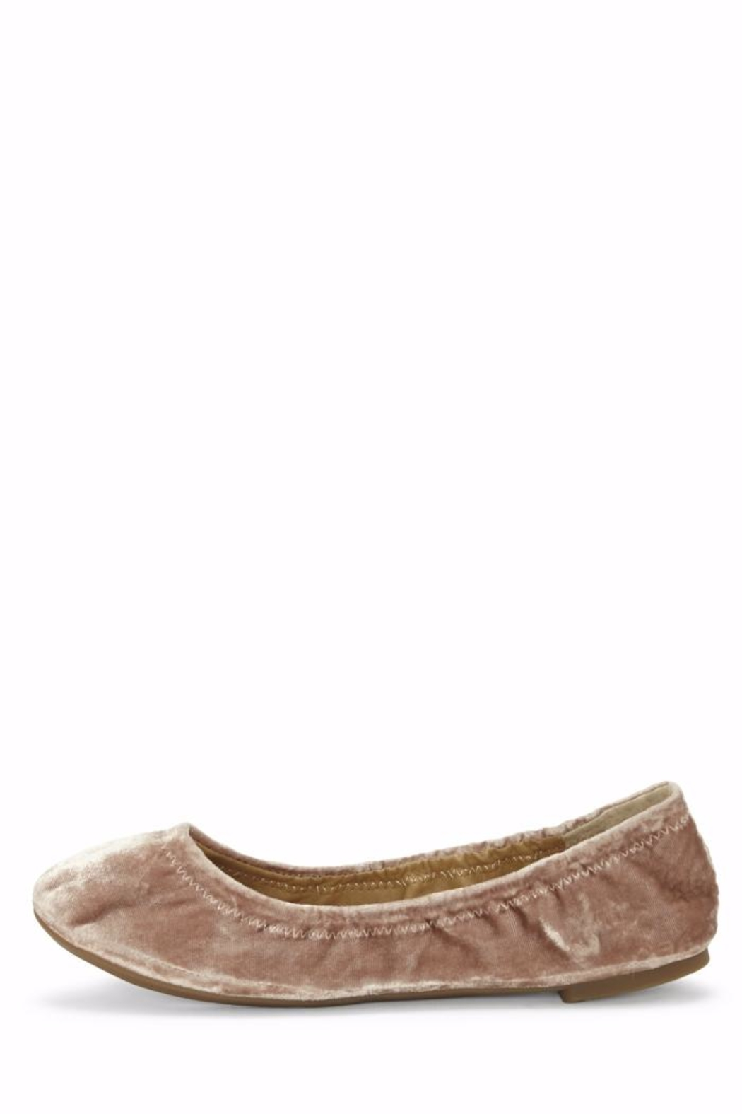Lucky Brand Emmie Velvet Flat - Front Cropped Image