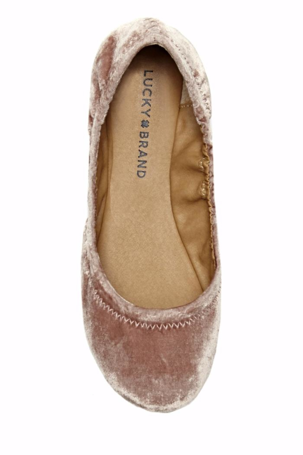 Lucky Brand Emmie Velvet Flat - Side Cropped Image