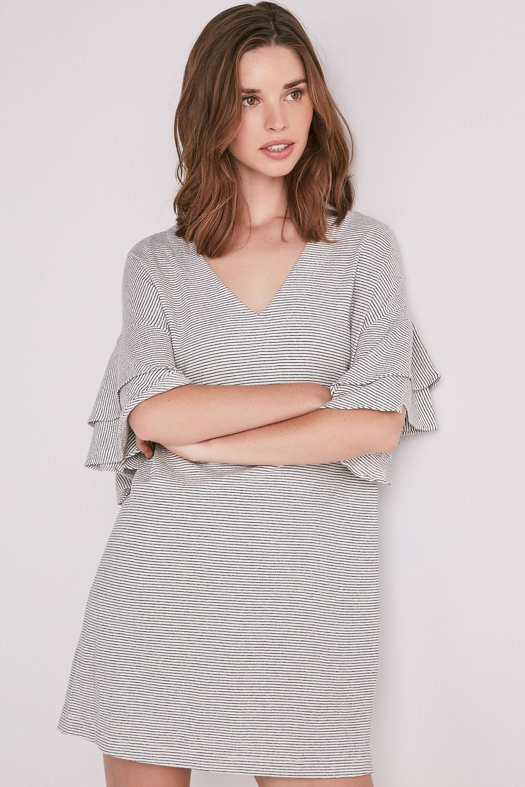 Lucky Brand Layered Ruffle Sleeve - Front Full Image