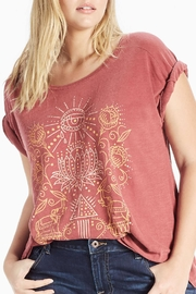Lucky Brand Lotus Graphic Tee - Product Mini Image