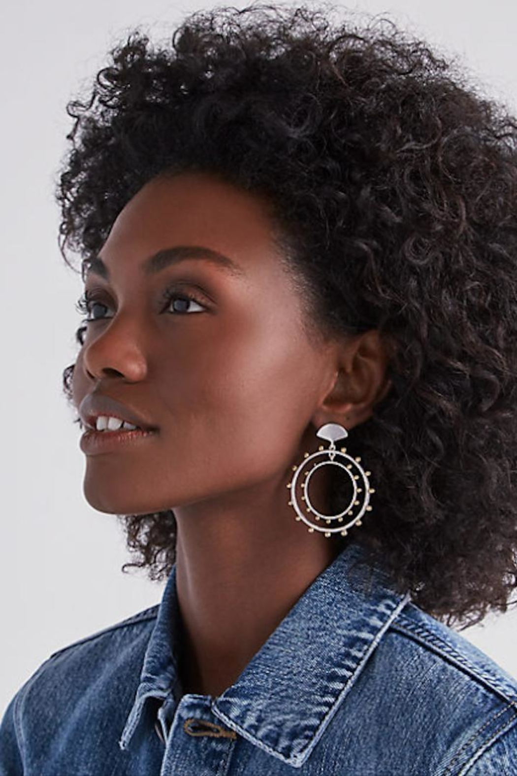 Lucky Brand Mixed-Metal Duo Hoops - Front Full Image