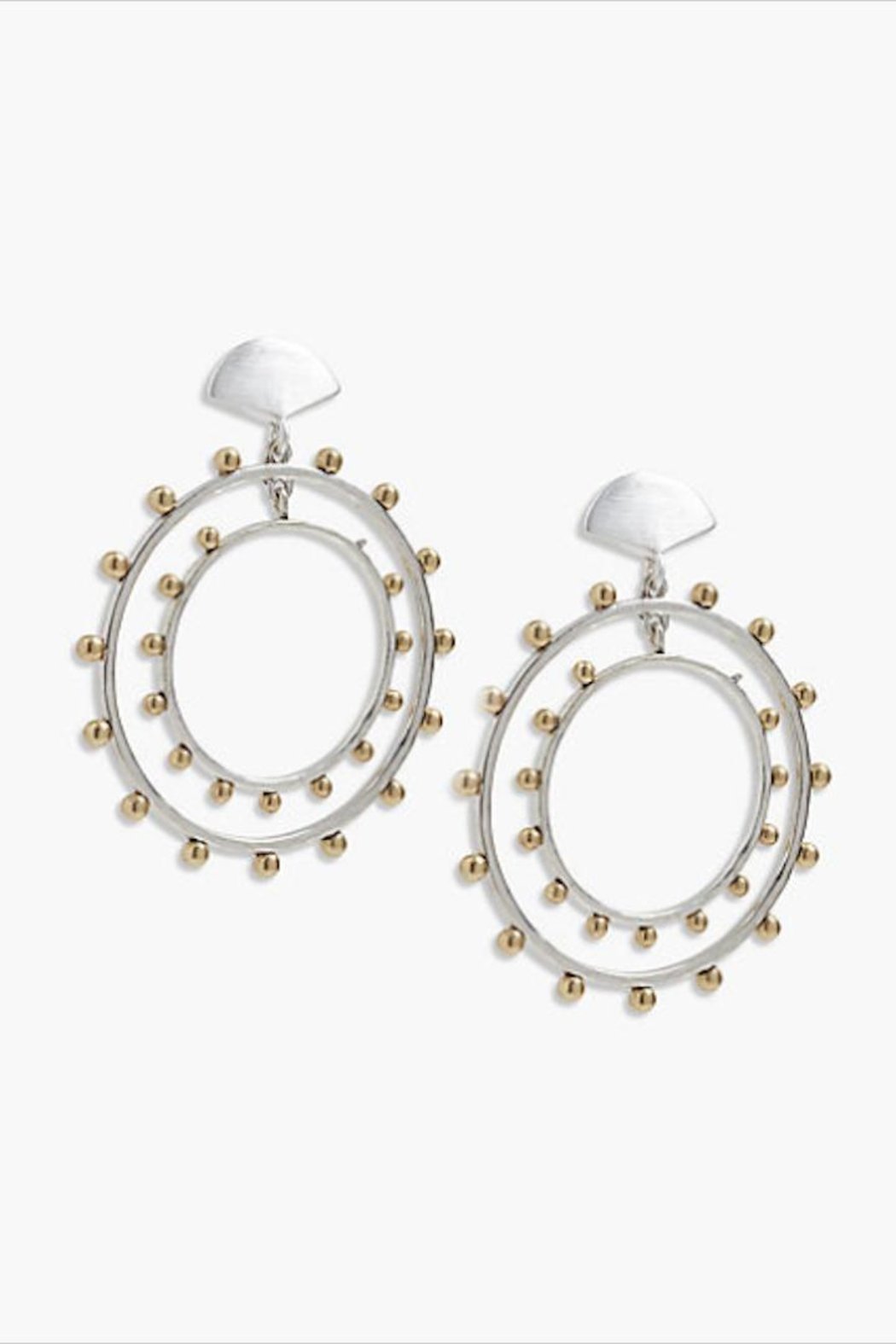 Lucky Brand Mixed-Metal Duo Hoops - Main Image