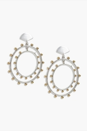 Lucky Brand Mixed-Metal Duo Hoops - Product Mini Image