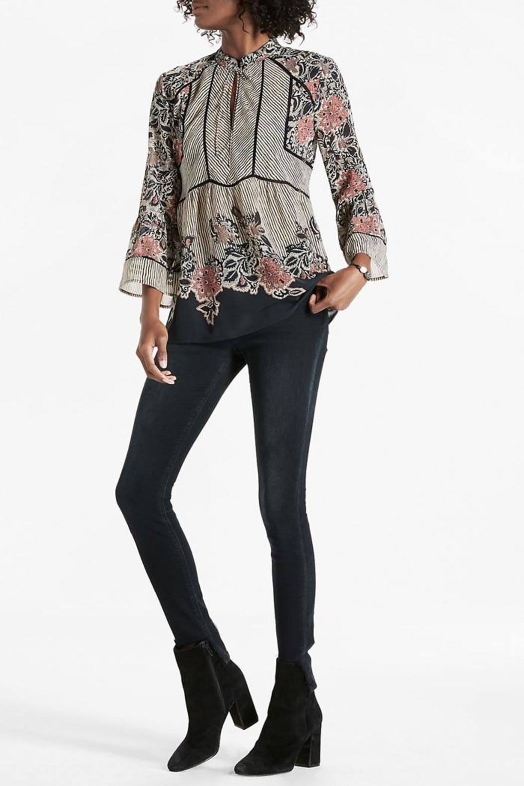 Lucky Brand Mixed Pattern Blouse - Main Image