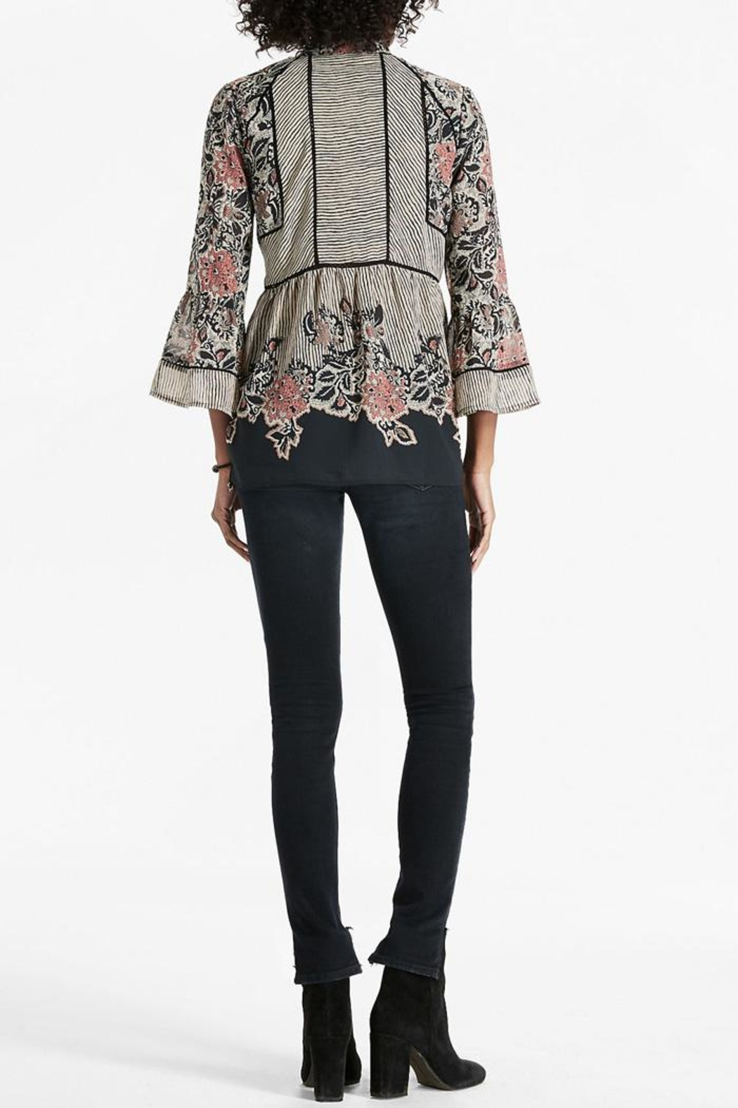 Lucky Brand Mixed Pattern Blouse - Front Full Image