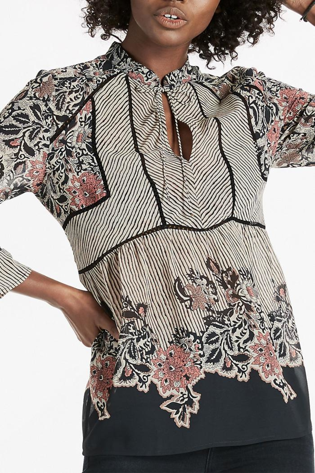 Lucky Brand Mixed Pattern Blouse - Side Cropped Image