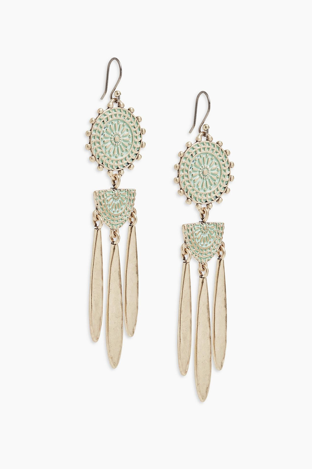Lucky Brand Petina Chandelier Earrings - Front Cropped Image