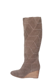 Lucky Brand Preeka Tall Water Proof Suede Chevron Stitch  Boots - Front cropped